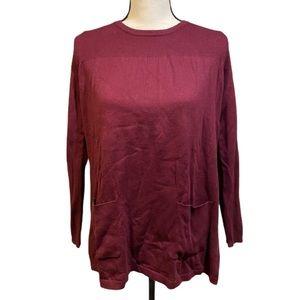 Joseph A. Wine Maroon Crewneck Pullover Sweater
